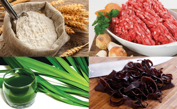 Những nguyên liệu chính cần chuẩn bị cho món bánh bao nhân thịt
