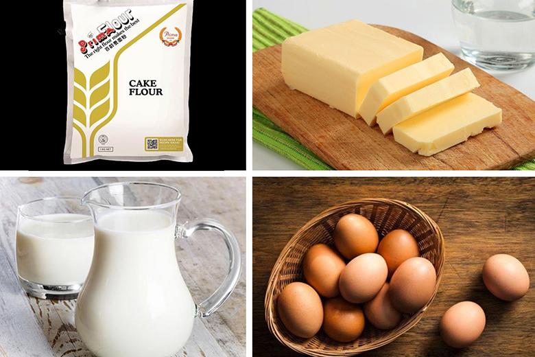 Những nguyên liệu cần chuẩn bị khi làm bánh cupcake bằng nồi chiên không dầu