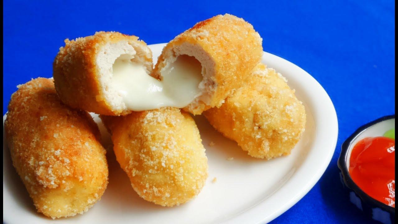 Bánh ăn nóng có thể kéo giãn phô mai, lớp vỏ ngoài giòn