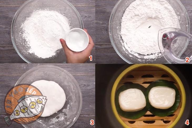 Các bước làm bánh dày