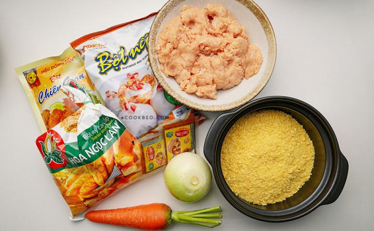 Chuẩn bị đầy đủ nguyên liệu làm bánh gà ngon tại nhà