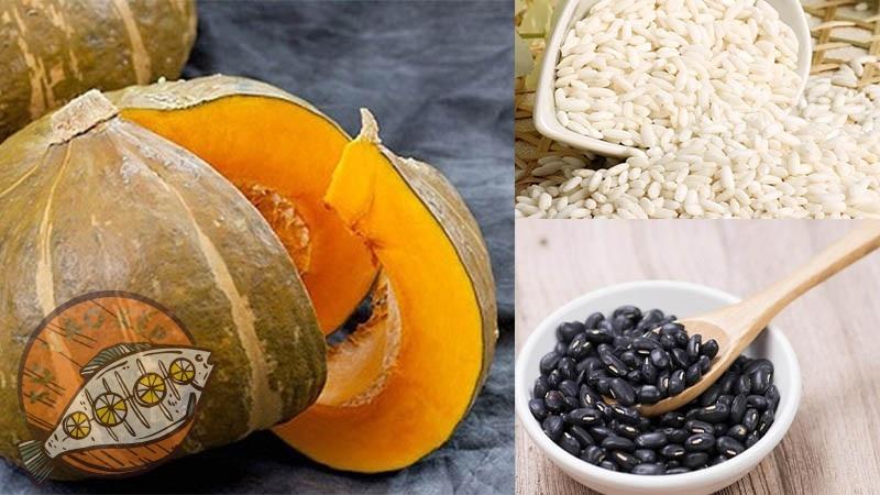 Nguyên liệu chính cho món chè bí đỏ đậu đen