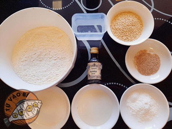 Nguyên liệu làm bánh tiêu đặc ruột