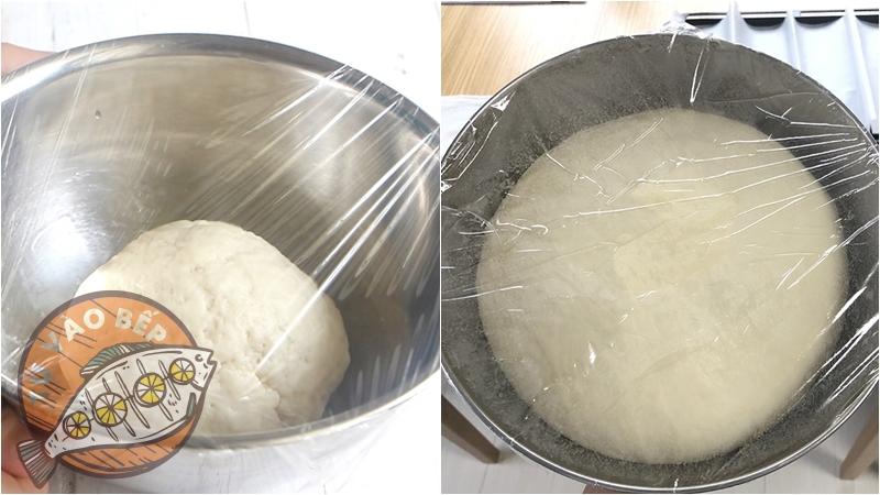 Ủ bột trong thời gian từ 1-2h