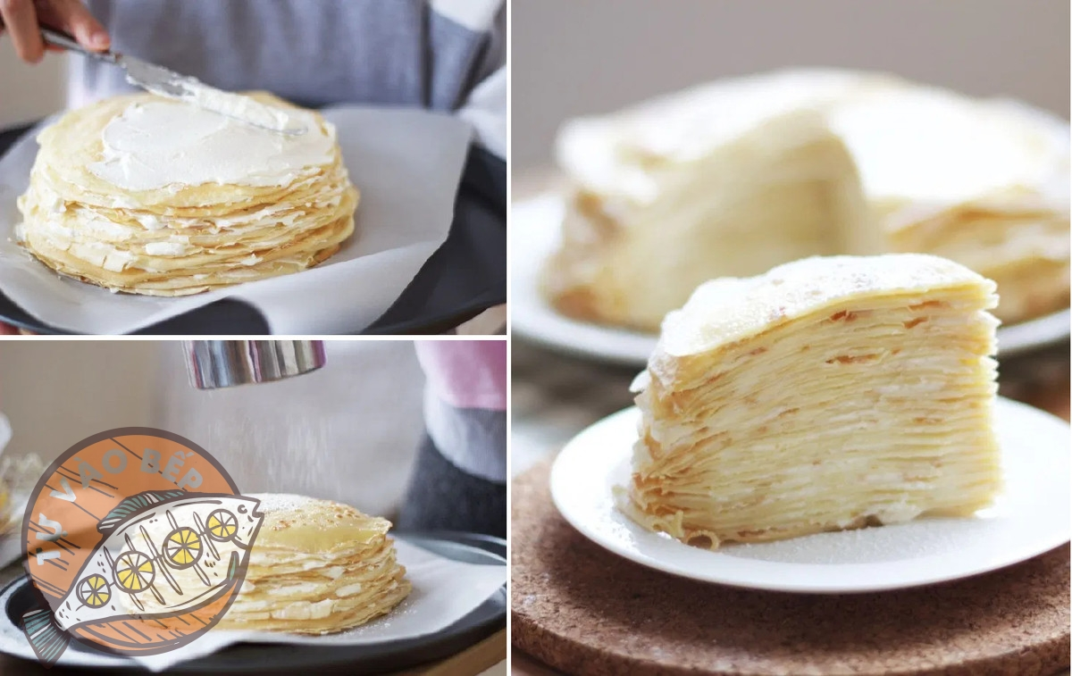 Công thức làm bánh crepe ngàn lớp