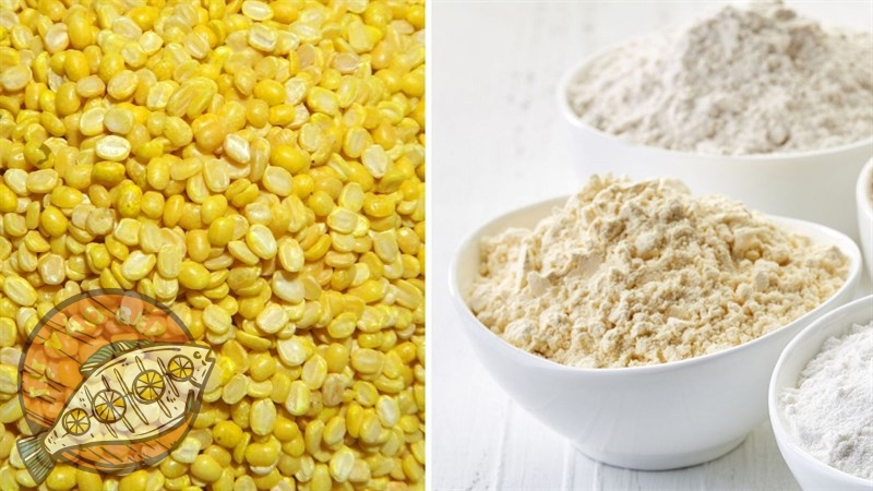 Nguyên liệu đơn giản nhưng tối cần thiết - đậu xanh và các loại bột