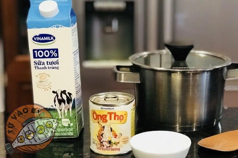 Nguyên liệu cần cho cách làm sữa chua bằng nồi cơm điện