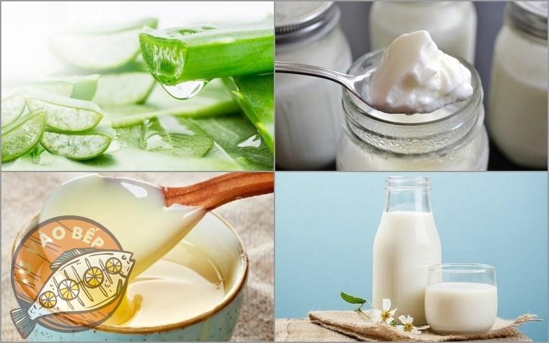 Nguyên liệu cần dùng để tạo nên sữa chua nha đam